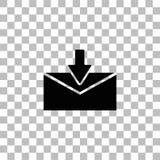 Email ikony mieszkanie ilustracja wektor