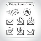 Email ikony na białym tle ilustracja wektor