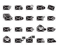 Email ikony Wektorowe Fotografia Royalty Free