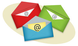 Email illustration Royalty Free Stock Photos