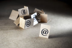 Email important Photographie stock libre de droits