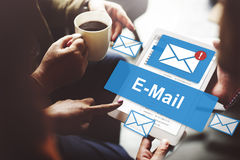 Email Inbox Electronic Communication Graphics Concept Royalty Free Stock Photography
