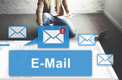 Email Inbox Electronic Communication Graphics Concept stock image