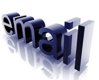 Email internet. Word graphic, with metal chrome style Stock Photos