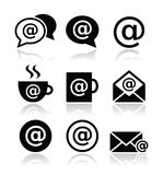 Email, internet cafe, wifi  icons set Royalty Free Stock Image
