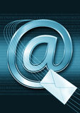Email / internet concept. With binary code Stock Photography