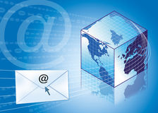 Email / internet concept. With square globe Royalty Free Stock Images