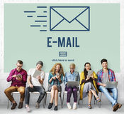 Email Internet Connecting Communication Message Concept Stock Image