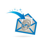 Email Just Received Logo Stock Photo