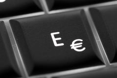 Email key. The E and email key frim a keyboard Stock Photos