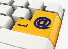 Email keyboard. Shortcut for the email access Stock Photo