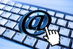 Email, Keyboard, Computer, Mail, At Royalty Free Stock Photography