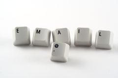 Email Keys. Computer keyboard keys spelling email Stock Photo