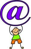 Email kid Stock Photo