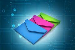 Email kommunikationsbegrepp Arkivbild