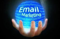 Email kuli ziemskiej tła Marketingowy błękit Zdjęcia Royalty Free