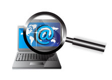 Email laptop Stock Photography
