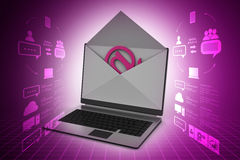 Email and laptop Stock Photography