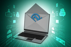 Email and laptop Stock Images