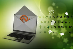 Email and laptop Royalty Free Stock Image