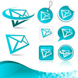 Email Letter Icon Kit Royalty Free Stock Photo