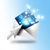 Email Letter With Sparkles and Arrow Royalty Free Stock Photo