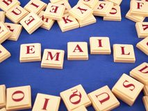 Email Letter Tiles. Letter tiles from a word game royalty free stock photos