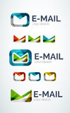 Email logo design made of color pieces Stock Photos