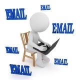 Email - ludzie bawić się komputer ?wiadczenia 3 d ilustracji