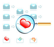 Email magnifier Stock Image