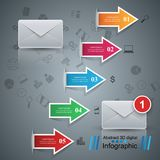 Email and mail icon. Abstract 3D Infographic. Business Infographics origami style Vector illustration. Eps 10 Royalty Free Stock Photography