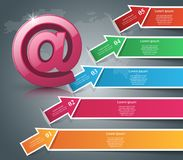 Email and mail icon. Abstract 3D Infographic. Business Infographics origami style Vector illustration. Eps 10 Royalty Free Stock Images