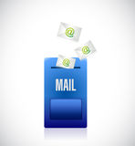 Email mailbox illustration design Royalty Free Stock Photography
