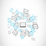 Email mailing concept. Abstract background Stock Image