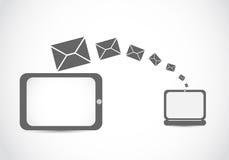 Email mailing laptop tablet royalty free illustration