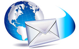 Email mailing the world Stock Image