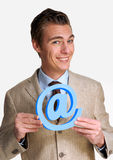 Email man. Stock Photo