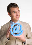 Email man. Stock Image