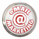 Email Marketing Button Advertising Message Campaign Royalty Free Stock Photography