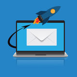 Email marketing concep in flat design, vector, illustration Stock Photo