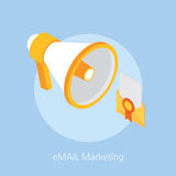Email marketing concept design 3d isometric  illustration Royalty Free Stock Image