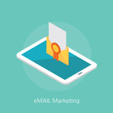 Email marketing concept design 3d isometric  illustration Stock Photos