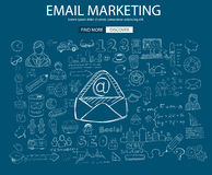 Email Marketing concept with Doodle design style Stock Photo