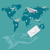Email marketing concept in flat design, vector, illustration Stock Image