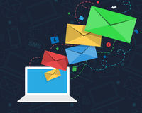 Email marketing concept Royalty Free Stock Images