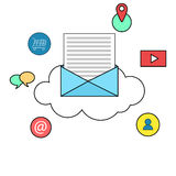 Email marketing concept illustration Stock Images