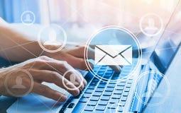 Email marketing concept, send newsletter