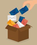 Email marketing design. Royalty Free Stock Photography