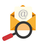 Email marketing design,  illustration. Royalty Free Stock Photography