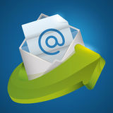 Email marketing design. Stock Photos